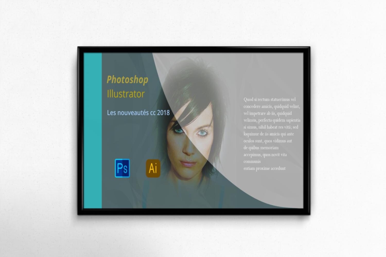 Horizontal Flyer Poster Frame Mockup